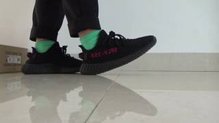 c1aa0e7f83a46 ON FOOT!!! Newest Version yeezy boost 350 V2 Pirate Bred from kicksgame.