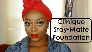 clinique stay matte foundation review  28 clove  makeupbylonn
