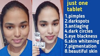 Full body permanently whitening at home/vitamin 'c' tablet face pack//