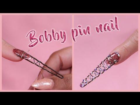 Bobby Pin Nail Design | Kiara Sky Nails