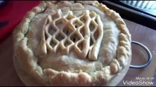 Рыбный пирог.(консервированная Сайра с картофелем)