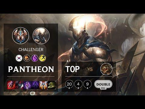 Pantheon Top Vs Renekton - KR Challenger Patch 10.10