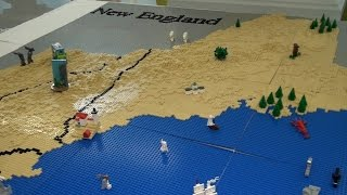LEGO map of New England – BrickFair New England 2015