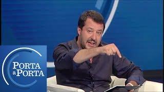 """Sea Watch, Salvini: """"Hanno forzato il blocco, vanno arrestati"""" - Porta a porta 26/06/19"""