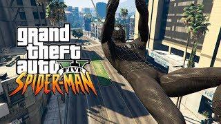 GTA V : HOMEM ARANHA COM UNIFORME NEGRO ZUANDO DEMAIS (SPIDER MAN HOMECOMING MOD)