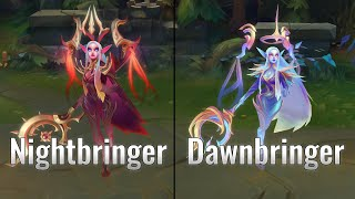 Dawnbringer Soraka vs Nightbringer Soraka Skins Comparison (League of Legends)