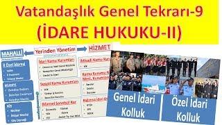 VATANDAŞLIK GENEL TEKRAR-9 İDARE HUKUKU-2(SON VİDEO)