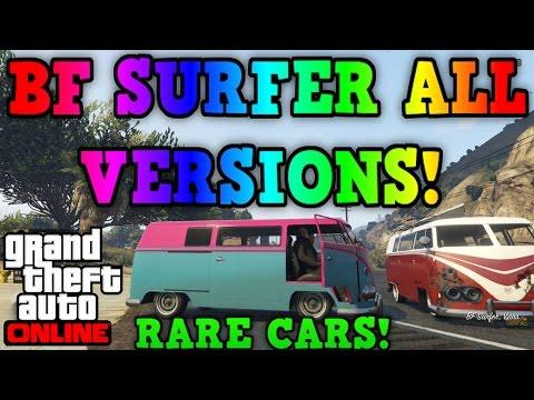Gta 5 Online: BF Surfer - ALL VARIANTS \u0026 LOCATIONS! - (Gta 5 Rare Cars)