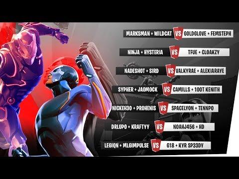 $20K Fortnite  Tournament w I AM WILDCAT vs Ninja DrLupo Tfue SypherPK Nadeshot & more