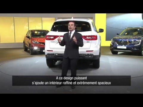 new renault koleos press conference nouveau renault. Black Bedroom Furniture Sets. Home Design Ideas