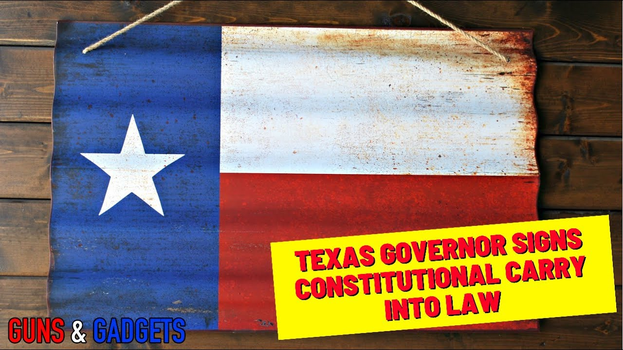 Texas Governor Signs Constitutional Carry Into Law