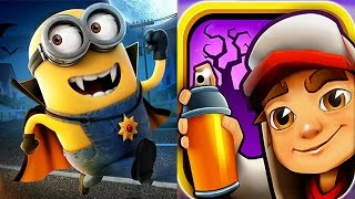 Despicable Me 2 - Minion Rush : Vampire Minion VS Subway Surfers Transylvania !