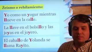 Práctica de pronunciación del español. Fonema /ʝ/
