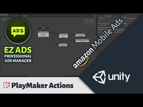 PlayMaker Actions For Amazon Mobile Ads - Ez Ads - Professional Ads Manager For Unity