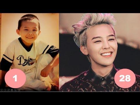 G-Dragon BIGBANG Childhood   From 1 To 28 Years Old
