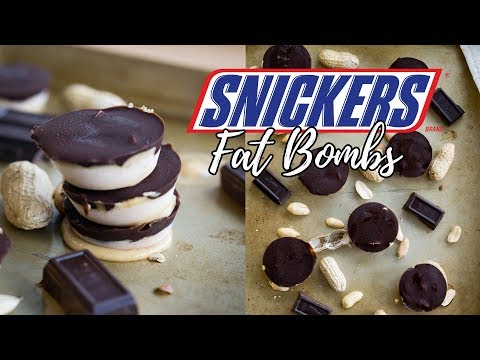 Keto Snickers! Ice Cream Snickers Fat Bombs