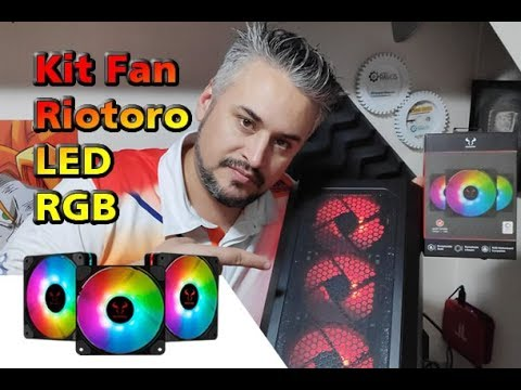 🔥 Não adianta Gabinete Bonitinho se não for bem ventilado 💨 Kit Fan Riotoro Quiet Storm RGB