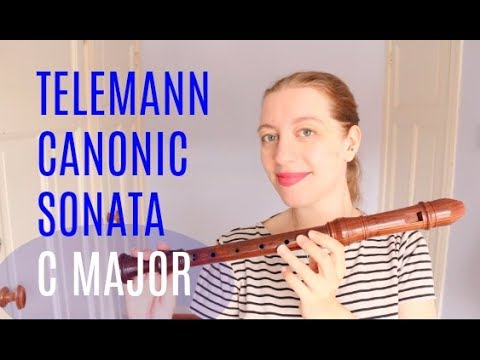 PLAYALONG: Telemann Canonic 5 in Sonata C major | Team Recorder