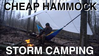 Huge Storm Camping In Cheap Hammock