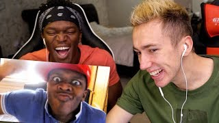 REACTING TO OLD VIDEOS WITH KSI!