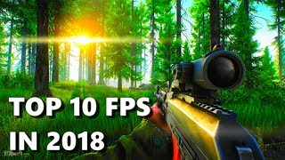 top 10 FPS games 2018 pc/ps4/xbox one