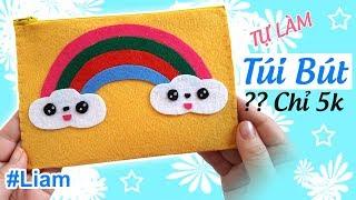 Tự làm Túi Đựng Bút chỉ 5k Vừa rẻ, Vừa dễ thương | DIY School Supplies: Pencil Case | Liam Channel