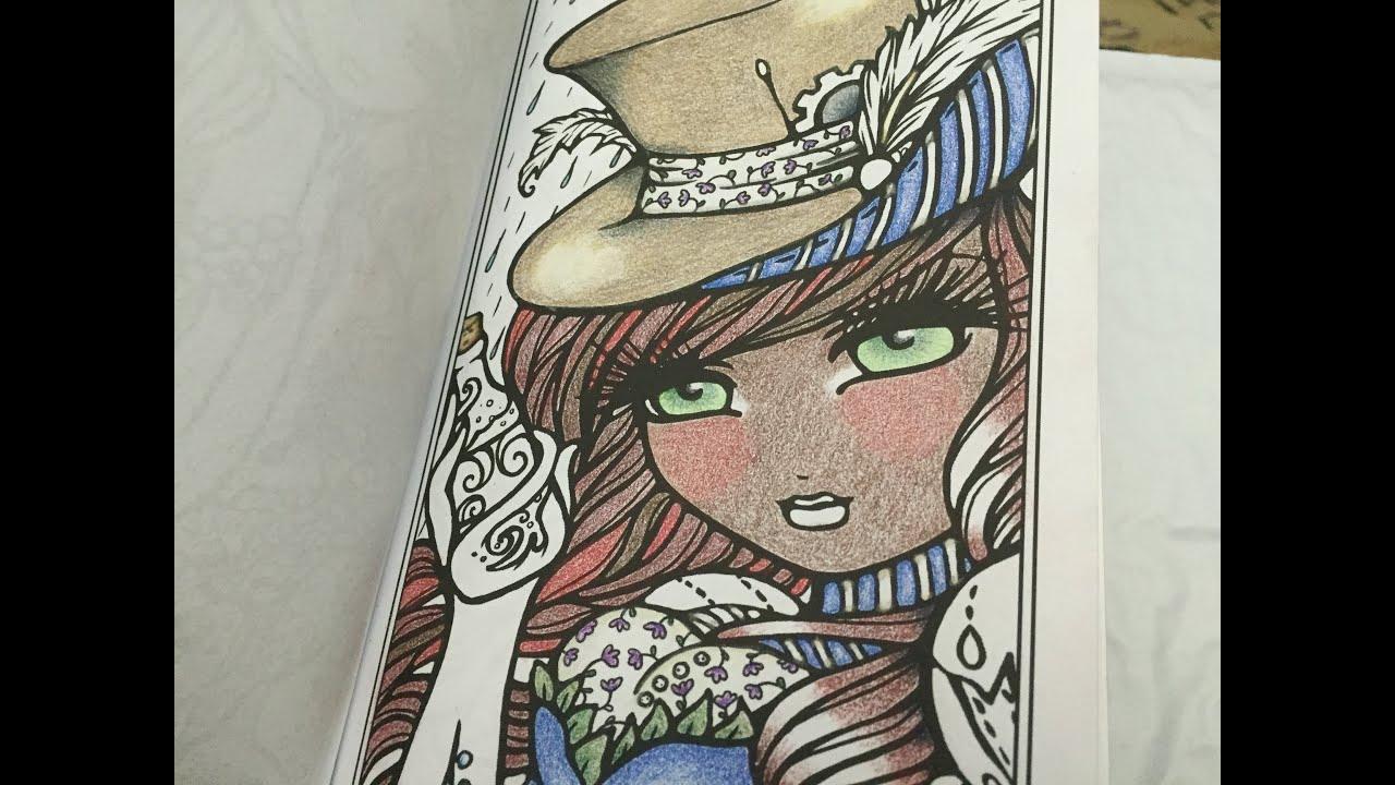 Hannah Lynns Pocket Coloring Book Review Enchanted Faces Mermaids Fairies Fantasy