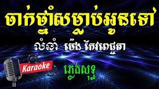 ចាក់ថ្នាំសំលាប់អូនទៅ ម៉េង កែវពេជ្ជតា Khmer Karaoke ភ្លេងសុទ្ធ ខារ៉ាអូខេ Phleng Sot