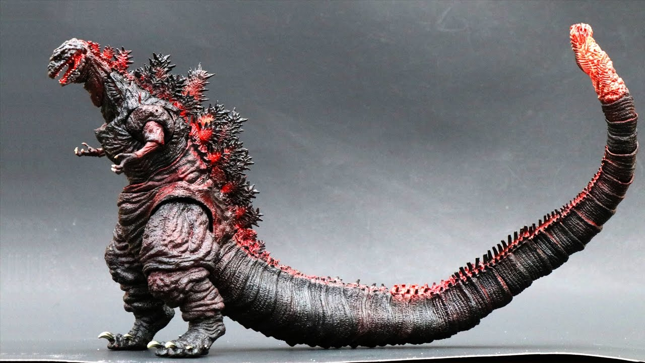 SH MonsterArts Shin Godzilla Review and Comparison - YouTube