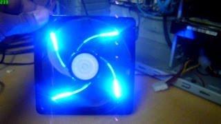 Кулер майстер 90CFM Sickleflow 120 синій світлодіод вентилятор - Розпакування та огляд