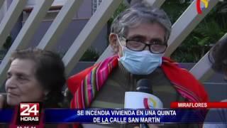 VIDEO: incendio consume vivienda en Miraflores