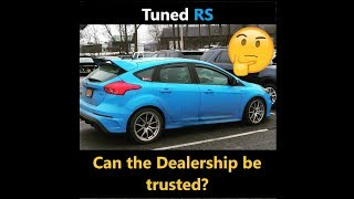 Tuned Focus RS |Dealer service| Kept my GoPro in the car