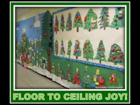 Diy Christmas Bulletin Board Decorating Ideas Youtube