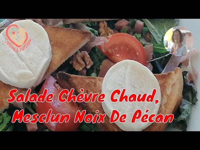 Salade Chèvre Chaud, Mesclun Noix De Pécan