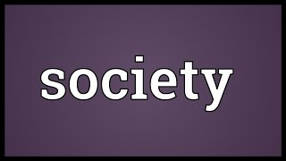 Society Meaning