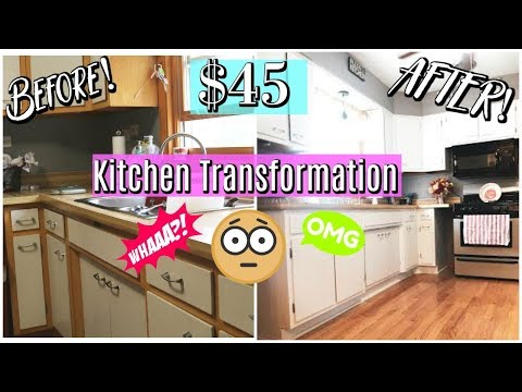 KITCHEN TRANSFORMATION UNDER $50 / HOW TO PAINT CABINETS / DANIELA DIARIES