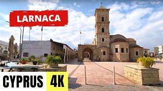 Прогулка по центру Ларнаки Март 2021 Кипр Walking in Larnaca center Cyprus