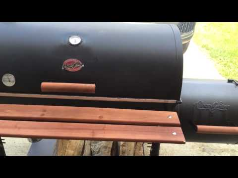 Char-Griller Outlaw Smoker Maiden Voyage!