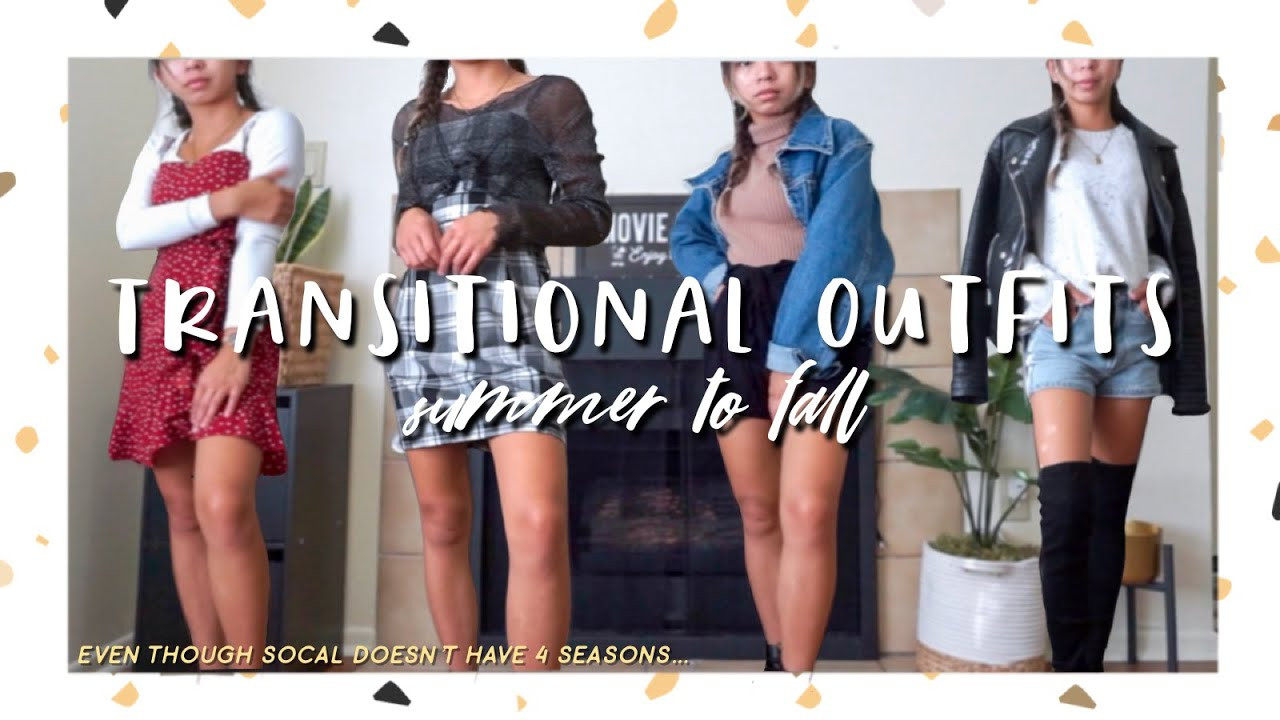 [VIDEO] - Easy Summer to Fall Transitional Outfits | nuhvayuh 2