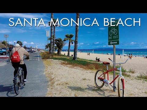 Santa Monica Beach to Marina Del Rey - Bike Path - GoPro HD - Biking, Running, Paddling