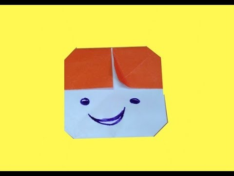 How To Make An Origami Human Face