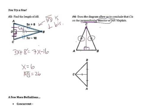 5.2: Use Perpendicular Bisectors