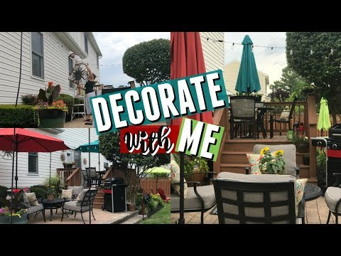 Decorate With Me | Outdoor Deck & Patio  Refresh | Outdoor Decorating Ideas |