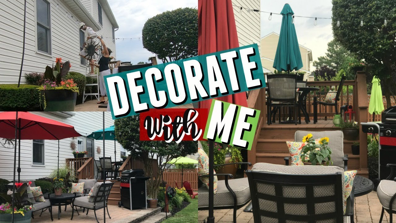 Decorate With Me Outdoor Deck Patio Refresh Outdoor