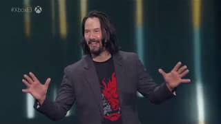 Cyberpunk 2077 Keanu Reeves E3 2019 Reveal Trailer and Stage Appearance
