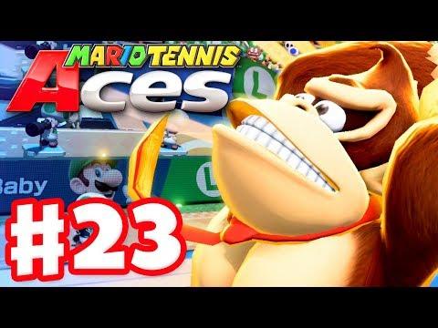 Mario Tennis Aces - Gameplay Walkthrough Part 23 - Donkey Kong! Online Tournament! (Nintendo Switch) - 동영상