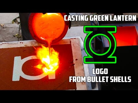 Making Gold Green Lantern Logo