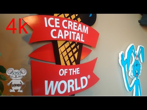Blue Bunny Ice Cream Parlor And Museum In 4K
