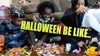 KIDS TRICK OR TREATING BE LIKE... ( KIDS SKIT)
