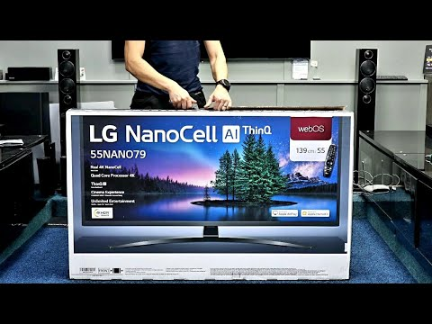 "LG NANO79 55"" Unboxing and Setup With 4K HDR Demo Videos"